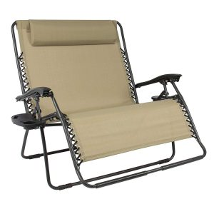 2 Person Double Wide Zero Gravity Beach Chiar