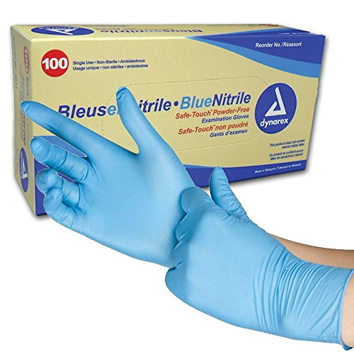 Dynarex SafeTouch Nitrile Exam Gloves, Non Latex, Powder-Free
