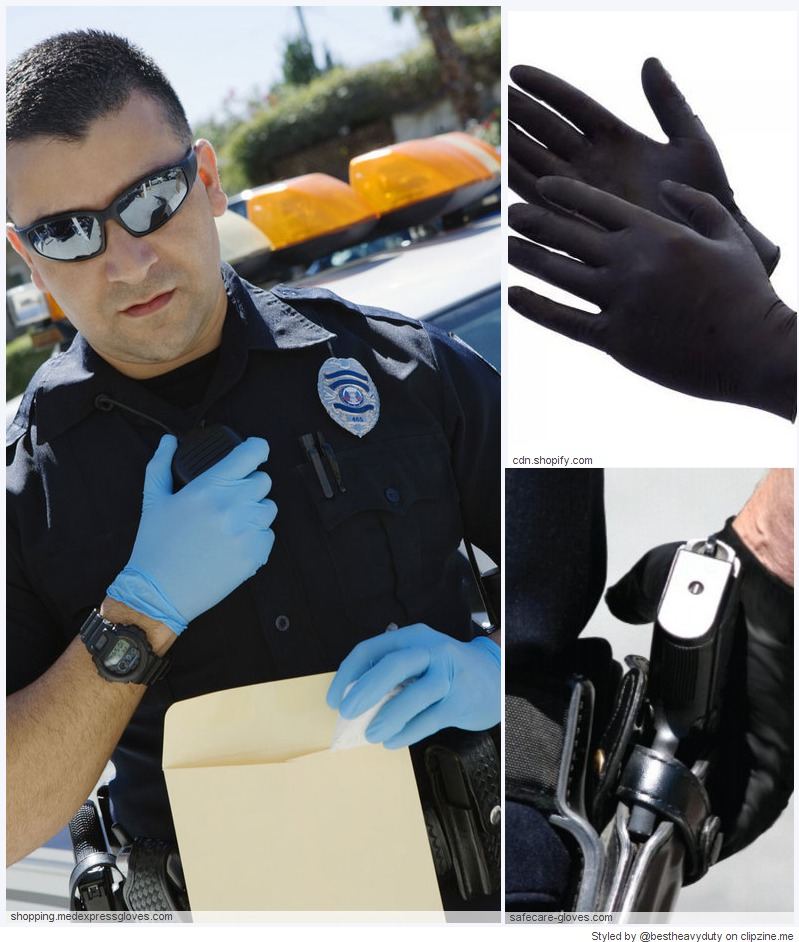 Heavy Duty Nitrate Gloves for Police and Law Enforcement