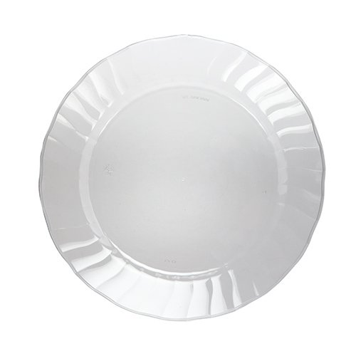 WNA Cut Crystal Heavyweight Clear Plastic Party Plates, 70 Count