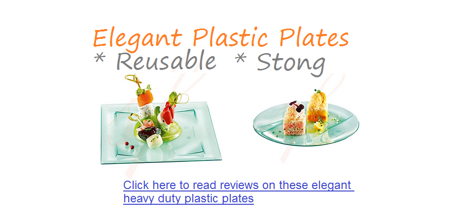 strong reusable elegant fance plastic plates
