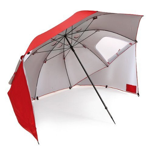 heavy duty beach umbrella for uv sun and wind protection