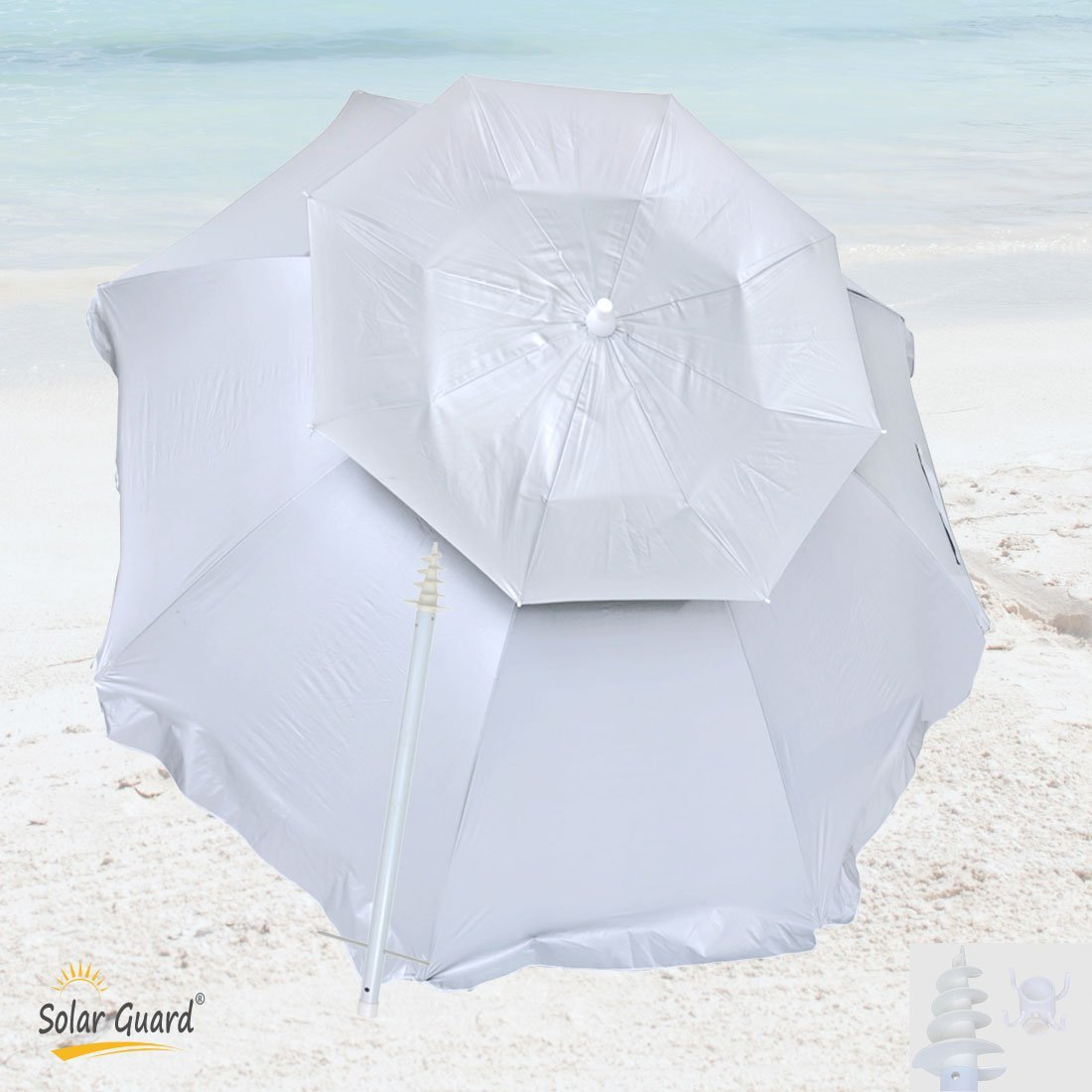 top rated beach umbrellas for sun and wind protection