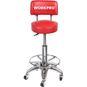 Work Pro Heavy Duty Adjustable Hydraulic Stool Mechanic Garage Shop back support comfort
