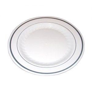 Masterpiece Premium Quality Heavyweight Plastic Plates: 25 Dinner Plates and 25 Salad Plates