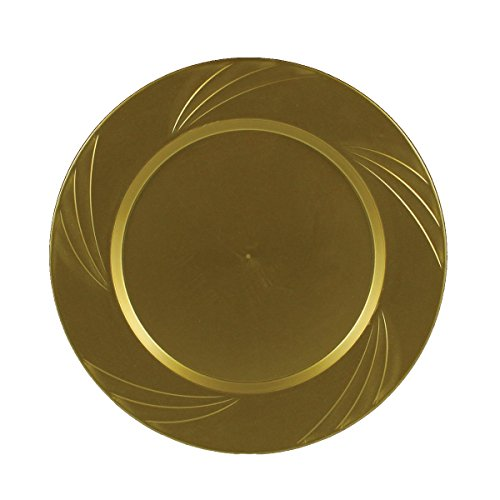 Check Price \u0026 Quantity Options Maryland Plastics 15 Count Newbury Dinner Plate 10-3/4  sc 1 st  Best Heavy Duty Stuff : gold plastic dinner plates - pezcame.com