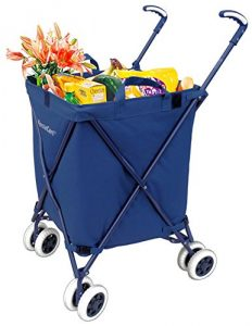Best Heavy Duty Folding Shopping Carts with Swivel Wheels