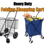 best-heavy-duty-folding-shopping-cart-with-swivel-wheels
