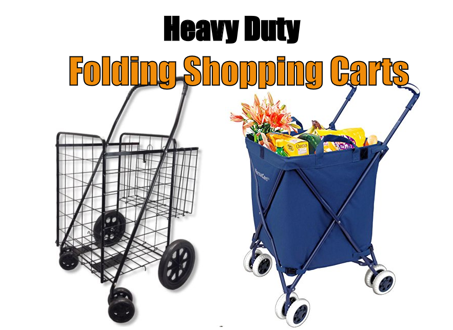 best-heavy-duty-folding-shopping-cart-with-swivel-wheels
