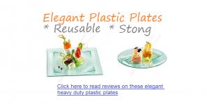 strong reusable elegant fance plastic plates