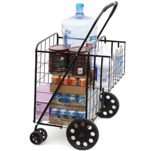 Best Heavy Duty Folding Shopping Cart with Swivel Wheels