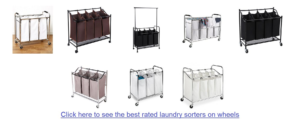 heavy duty wheeled laundry sorter