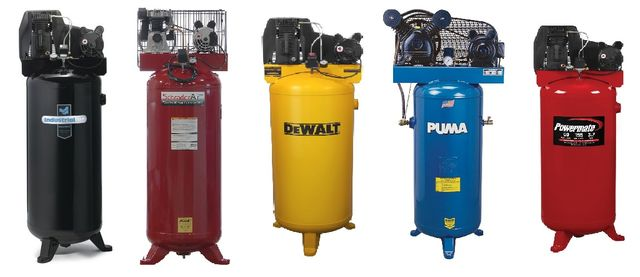 top rated 60 gallon air compressors - vertical