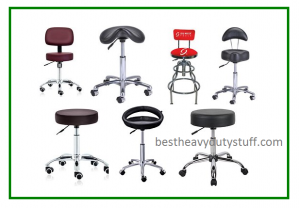 rolling adjustable height hydraulic saddle stools