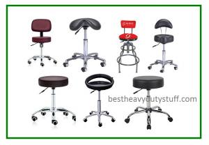 rolling adjustable height hydraulic saddle stools