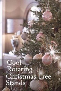 best rotating christmas tree stands for real and artificial trees