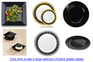Heavy duty plastic plates for weddding