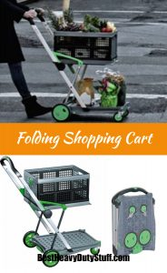 Heavy Duty Folding Shopping Cart with Front Swivel Wheels