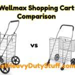 Wellmax Swivel Wheel Folding Shopping Cart comparison heavy duty