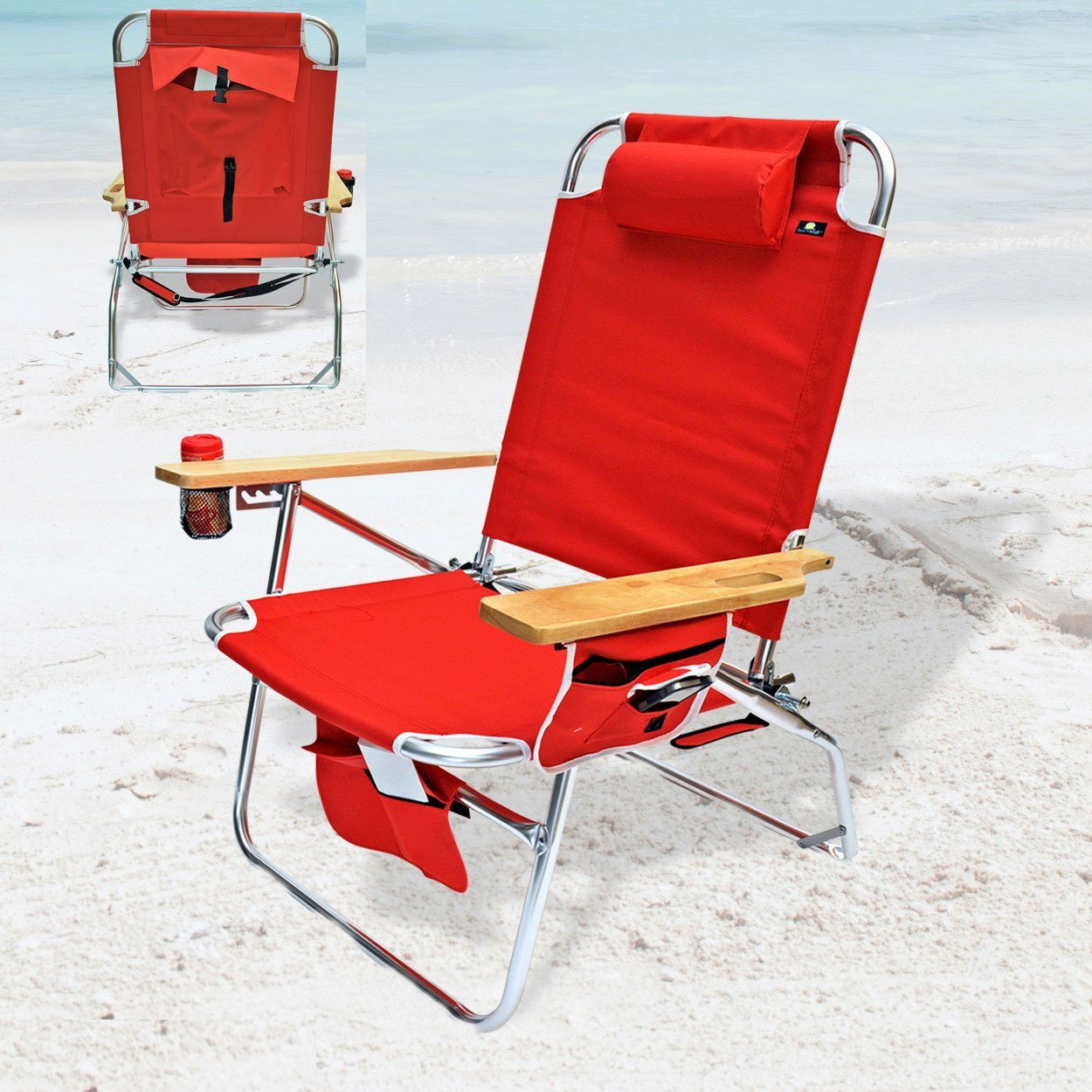 Thumbnail for Big Jumbo Heavy Duty 500 lbs XL Aluminum Beach Chair for Big and Tall Person - Best Heavy Duty Stuff