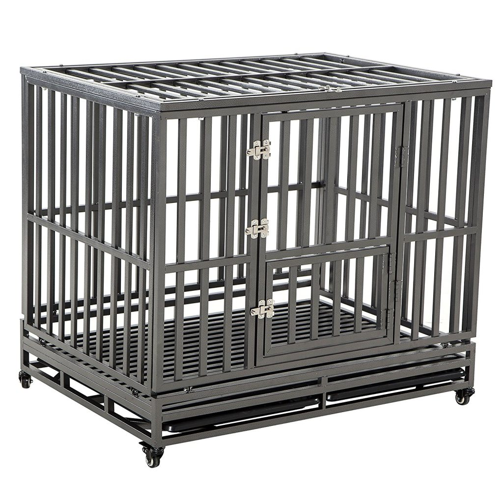 Heavy duty dog crate for large dogs