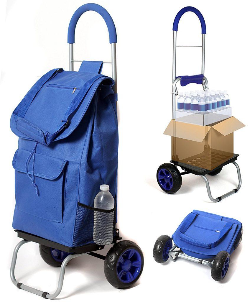 Best Heavy Duty Folding Shopping Cart with Swivel Wheels