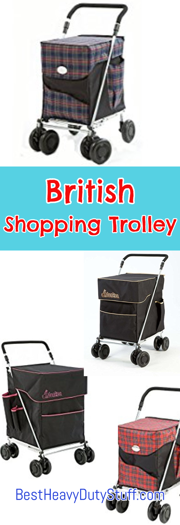 British Folding Personal Shopping Cart Trolley