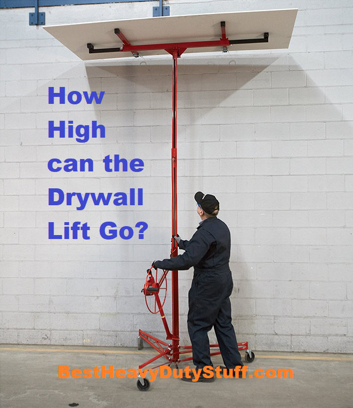 Drywall panel lift extension