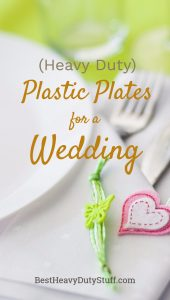Elegant heavy duty plastic wedding plates that look real
